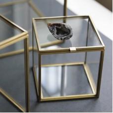 Шкатулка кубическая  с золотым профилем BB-011/5
