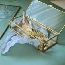 Шкатулка из стекла с зеркальным дном BB-026/5