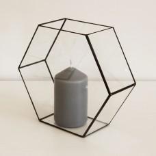 Стеклянный подсвечник в стиле лофт pi18
