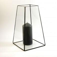 Стеклянный подсвечник в стиле лофт pi016