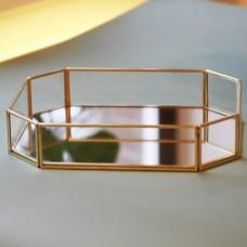 Поднос  из стекла с зеркальным дном   3061/5
