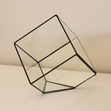 """Ваза для цветов стекло """"Куб большой"""""""
