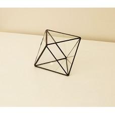 Стеклянная шкатулка для колец   в стиле лофт pi004, октаэдр