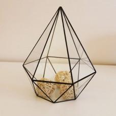 """Стеклянный флорариум """"Хия"""", ваза для цветов стекло"""